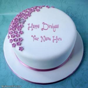 Ice Cream Birthday Cake With Name