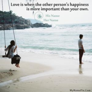 Love is Happiness Image With Name