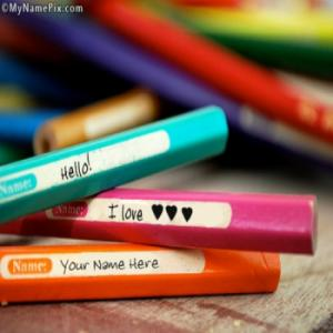 Love Pencils Image With Name
