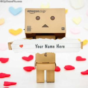 Lovely Danbo Image With Name
