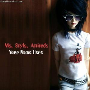 Me Style Attitude Image With Name