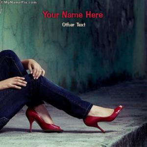 My Red Heels Image With Name