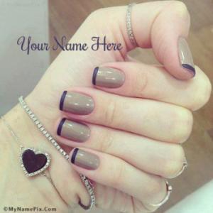 Nail Art Image With Name