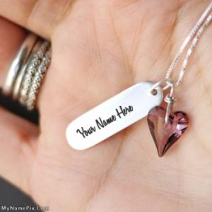 Personalized Necklace in Hand With Name