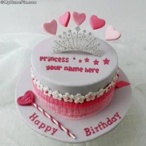 Princess Cake With Name