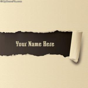 Ripped Paper Image With Name