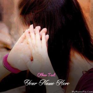 Shy Girl Image With Name