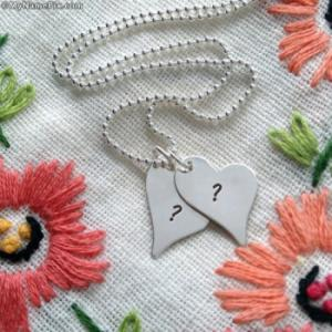 Silver Hearts Love Pendant With Name