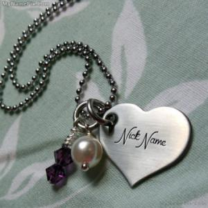 Personalized Small Heart Necklace With Name