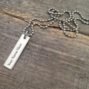 Personalized Vintage Word Necklace With Name