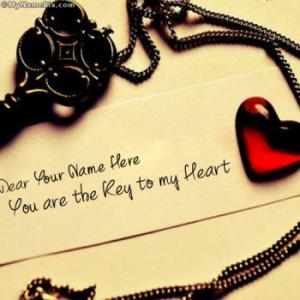 You are the key to my heart Image With Name