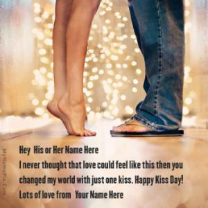 Kiss Day Romantic Wish With Name