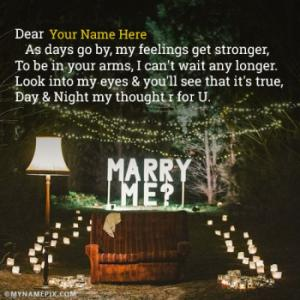 Love Proposal Day Quotes With Name