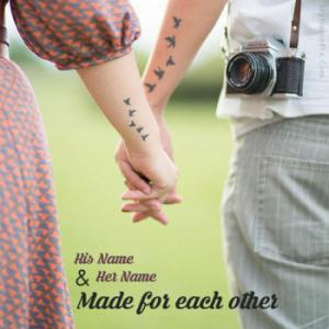 Lovely Couple Holding Hands Image With Name