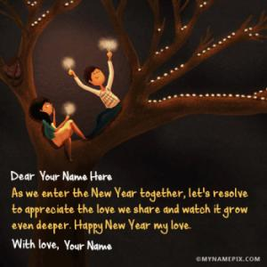 New Year Wishes For Lover With Name
