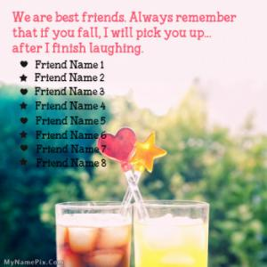 Remember Friends Image With Name