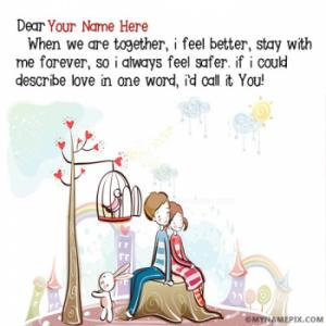 Romantic Love Couple Quotes Image With Name