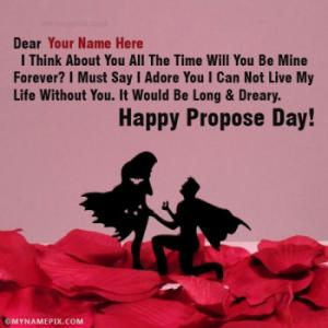Romantic Propose Day Images With Name