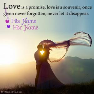 Romantic Quotes Image With Name