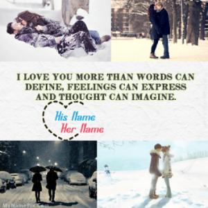 Romantic Winter Image With Name