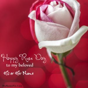 Rose Day My Beloved With Name