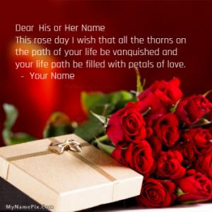 Rose Day Wishes With Name