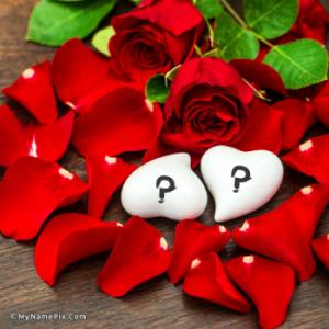 Rose Petals and Hearts With Name