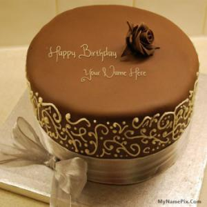 Royal Chocolate Birthday Cake With Name