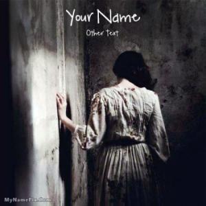 Sad Girl in The Dark Image With Name