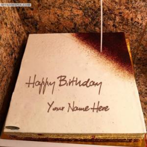 Square Icecream Birthday Cake With Name