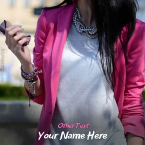 Stylish Attitude Girl Image With Name
