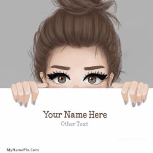 Sweet Girl Drawing Image With Name