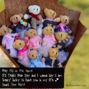 Teddy Bear Day Wish With Name