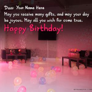 Write Name on Romantic Birthday Wishes