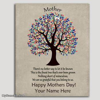 Awesome Mothers Day Card Ideas With Your Name