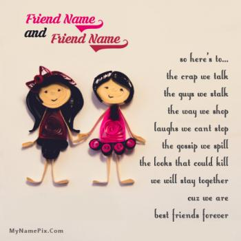 Best friends forever girls Image With Name