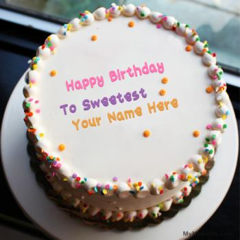 Best Sprinkle Birthday Cake With Name