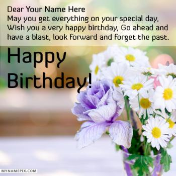 Birthday Wishes to a friend With Name