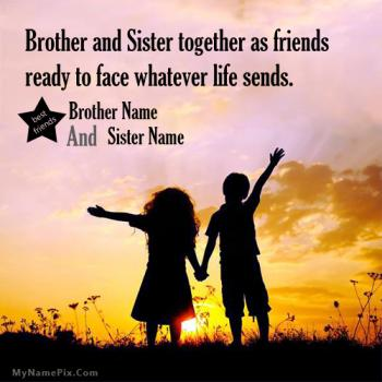 Brother Sister Love Image With Name