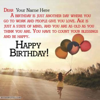 Celebration Happy Birthday Wishes With Name