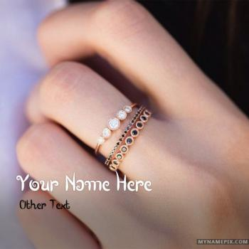 Girl Cute Hand Wear Ring Image With Name