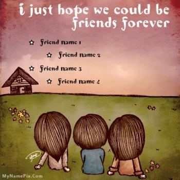 Hope For Friendship Image With Name