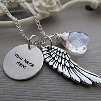 Personalized Angel Wing Necklace With Name