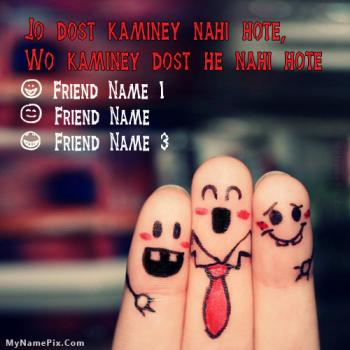 Kaminey Dost Image With Name