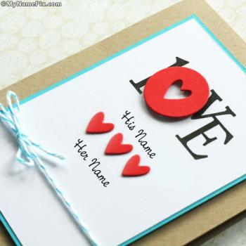 LOVE Note Images With Name