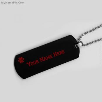 Personalized Medical Alert Necklace With Name