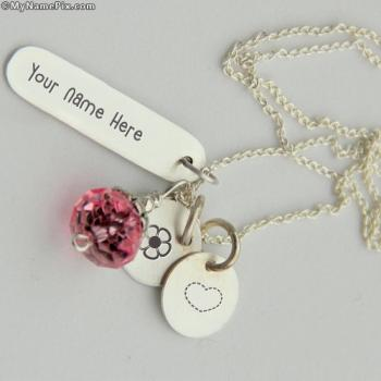 Personalized Silver Charming Necklace With Name