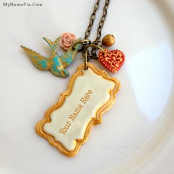 Personalized Vintage Frame Necklace With Name