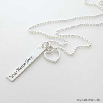 Personalized Light Sliver Necklace With Name