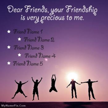 Precious Friends Image With Name